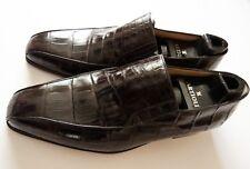 $5800 ARTIOLI Cognac Brown Crocodile Alligator Leather Shoes 11 US 44 Euro 10 UK