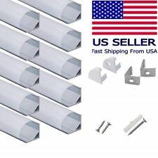 Hunhun 10-Pack 3.3ft/ 1Meter V Shape LED Aluminum Channel System w/ Milky Cover