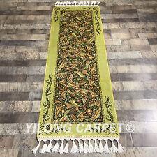 YILONG 2'x6' Handmade Silk Gallery Rug Runner Hallway Staircase Carpet YWX094A