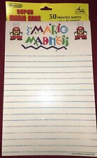 Vintage 1989 NEW Super Mario Bros. Official Nintendo Note Pad, 50 Pgs, Madness