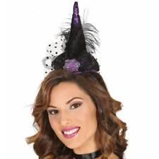 PEQUEÑO MORADO Bruja Top Sombrero Diadema Disfraz de Halloween