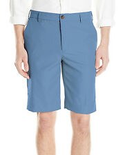 New Mens Izod The Driver Cool & Dry Flat Front Copen Blue Microfiber Shorts