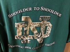 Adidas 2007 Notre Dame Football Men's Shirt Size MED Shoulder to Shoulder