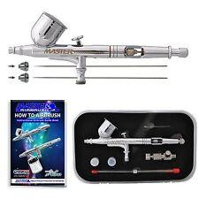 Professional Airbrush Gun Kit Paint Dual Action Air Brush Spray Auto Graphic Art