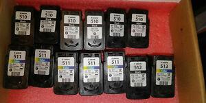 13 X GENUINE CANON Cartridges EMPTY VIRGIN PG510 PG-510 CL511 P512 CL513 LEER