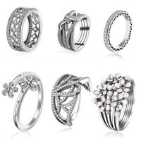 Fashion Women's Hot Jewelry Zirconia Crown Silver Ring Size 6-11 For Wedding