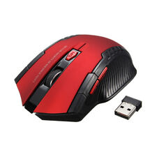 2.4ghz Mini Wireless Optical Gaming Mouse Mice& USB Receiver for PC Laptop UK Red