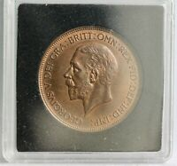George V Bronze Penny, 1930. aUNC. Beautiful Coin.