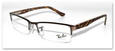 NEW AUTHENTIC RAY BAN EYEGLASSES RB6196 2664 BROWN / STRIPED BROWN 52-17-145