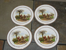 "Royal Vale England "" The Huntsman "" 3 7/8"" Coasters / Butter Pat ~ set of 4"