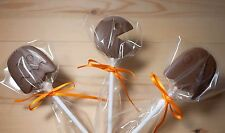 Pacman/Ghost game Belgian chocolate lollies/lollipops x 10.Ribbon.parties