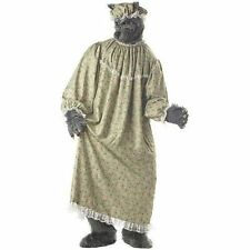 Big Bad Wolf Granny Red Riding Hood Men Costume One Size