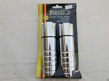 """Old School BMX Chrome Bullet Proof Steel Axle Pegs Fits 3/8"""" and 14mm Axles"""