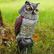 Owl Shake Head Fake Birds Pest Deterrent Hunting Repeller Garden Outdoor Decor