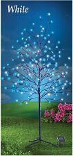 5 Ft. Solar Powered 200 Lights Blue Cherry Blossom Tree Outdoor Garden Decor