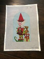 New ListingRaymond Crawford Hand Painted Elf Needlepoint Canvas 18 count