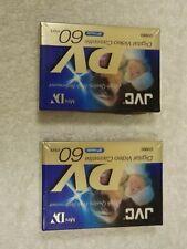 JVC mini DV digital video cassette DVM60, pack of 2.