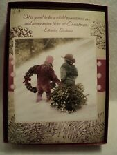 "Leanin Tree ""Children With Tree"" ~ Boxed Christmas Cards ~ Box of 10 Cards"