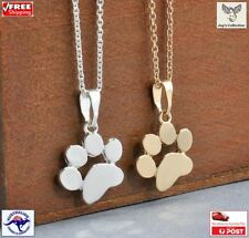 Cute Cat Dog Paw Print Pendant Chain Necklace Gold Silver Women Gift [B1N~B27]