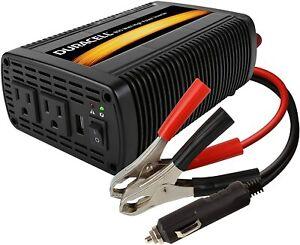 400 Watt Inverter Backup High Power Source 120V LED Camping Car Emergency RV New
