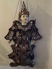 Large & Beautiful hand sewn sequin King Nat marionette puppet from Burma /Myanma