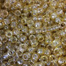 100 Gold Sparkle Pony Beads 9x6mm Authentic Beadery USA Beads