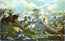 1910 Battle of Gettysburg Picketts Charge Civil War Postcard EH