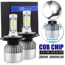 H4 Hi/Lo Beam 26000LM 260W LED Headlight HB2 Car 3-Side Lamp Bulb Kit 6500k 9003