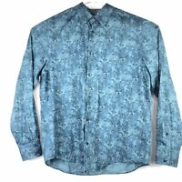 Vince Camuto Long Sleeve Shirt Green Black Floral Mens Size XL