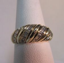 STUNNING 10K Gold Diamond, Dinner Ring Size 6.5  #R74
