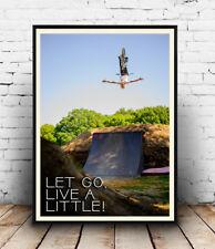 Loslassen, Live A Little, Mountainbike Poster, inspirierende, Bild, alle Größen