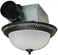 Round Bath Fan with Light Bathroom Ventilation Toilets Shower Steam Odor Bronze