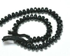 """BS-0018 Natural Black Spinel Rondelle Faceted Loose Beads 4.5mm 13/"""" Wholesale"""