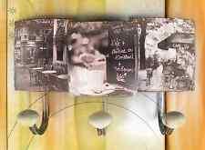 Wardrobe 3er Wall Hook Shield Iron Hanging Storage Lilacs Vintage Aesthetics Antique Furniture Reproduction Arms./wardrobes