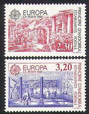 Andorra 1990 Europa/Post Office Buildings/Architecture/Animation 2v set (n36467)