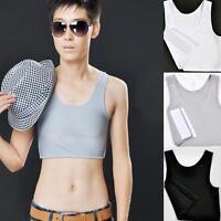 Super Comfortable  Breathable Buckle Short Chest Breast Binder Tran Lesbian S XL