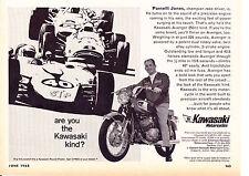 1968 KAWASAKI AVENGER 350cc MOTORCYCLE / PARNELLI JONES ~ ORIGINAL SMALLER AD