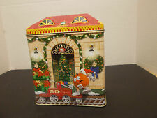 M & M'S CHRISTMAS VILLAGE CANISTER/TIN, #13, TRAIN DEP0T, LIMITED ED., 2001