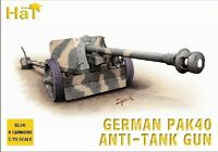 HAT MODELS 8150 1/72 WWII German PaK 40 Anti-Tank Guns 4 Plastic FREE SHIP