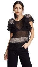 Rachel Comey Black & Gold Sheer Brink Top Size Mediun