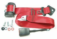 Roter Automatik 3 - Punkt Sicherheitsgurt BMW 5er , E 34  , New red Seatbelt E34