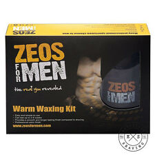 Zeos For Men Warm Waxing Kit - 100ml Wax Refill, 30 Paper Strips, 6 After-wipes