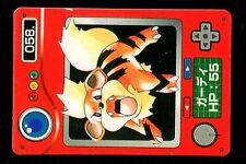 POKEMON JAPANESE BANDAI POCKET MONSTERS POKEDEX N°   58 GROWLITHE CANINOS