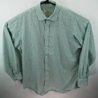 MICHAEL Michael Kors men's light green check dress shirt  17 34/35 XL