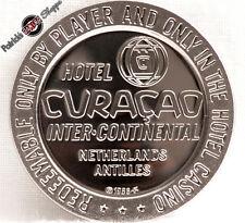 $1 PROOF-LIKE SLOT TOKEN HOTEL CURACAO CASINO 1966 FM COIN CARIBBEAN ANTILLES