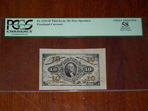FR.1251 SP WMF (3rd Issue) 10 cent WIDE MARGIN SPECIMEN (PCGS - CH.AU 58)