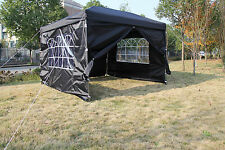 Pop-up Waterproof Outdoor Garden Gazebo 3x3m Tent Marquee Canopy-BLACK RETURN 21