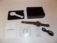 NIB Sharper Image HD Camcorder Spy Watch - Brown Spying Gear Camera James Bond