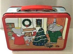 BABAR the ELEPHANT Metal Lunchbox Revillon Chocolatier France Christmas