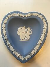"Wedgwood Jasperware Pale Blue Bridge Heart Tray Dish 4"" Nice! (7 available)"